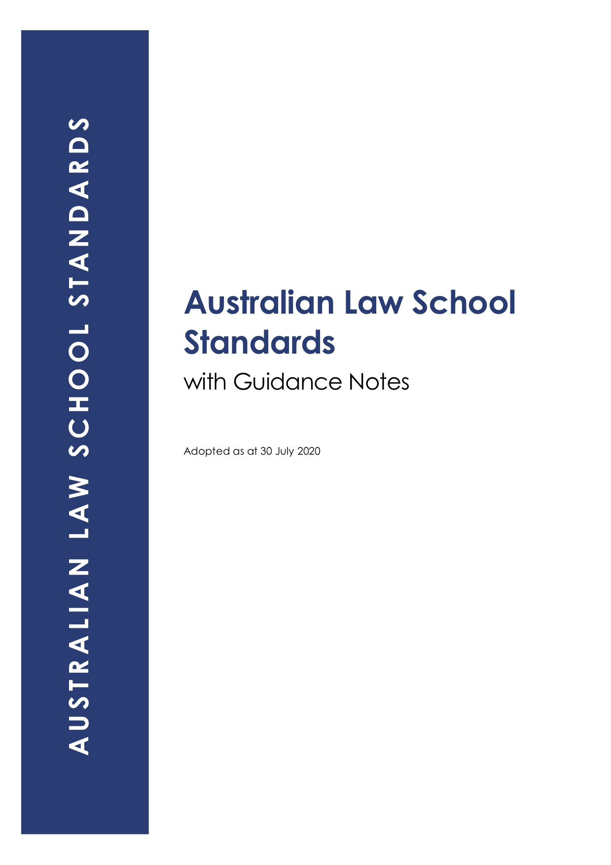 ALS Standards Cover